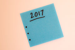 Om lijst voor het nieuwe jaar in blauw te doen Stock Afbeelding