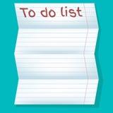 Om lijst, Witboek in lijn op een blauwe achtergrond te doen Stock Foto's