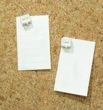 Om lijstspeld op cork raad te doen, doit of recenter, bellenspeld Stock Afbeelding