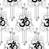 be76449ef Om And Lotus Tattoo Seamless Pattern Stock Vector - Illustration of  decorative, outline: 94876422