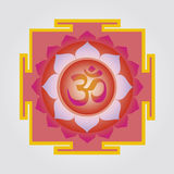 Om lotus yantra Royalty Free Stock Photo