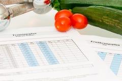 Om meer gezond met groente te leven Stock Foto's