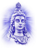 Om Namah Shivaya 3. Shiva's head with closed eyes Royalty Free Stock Photos
