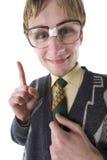 Om, of niet om nerd te zijn te zijn? stock foto's