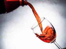 om odosobnione waite czerwonego wina Zdjęcie Royalty Free