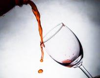 om odosobnione waite czerwonego wina Fotografia Royalty Free