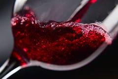 om odosobnione waite czerwonego wina Obrazy Royalty Free