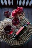 om odosobnione waite czerwonego wina Zdjęcia Stock
