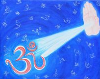Om painting on canvas Royalty Free Stock Photo