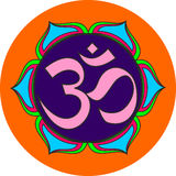 Om sacred sound symbol Stock Photos