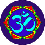 Om sacred sound symbol Stock Image