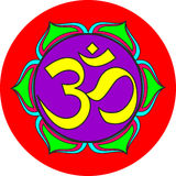 Om sacred sound symbol Royalty Free Stock Images