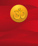 Om sign in red Stock Image