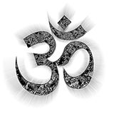 Om sing. Be the symbol of the Hinduism that has the antiquity most in the world Vector Illustration