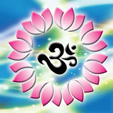 OM SING. Be the symbol of the Hinduism that has the antiquity most in the world Royalty Free Illustration