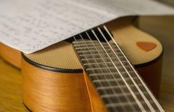 Om songwritingpassion Arkivfoton