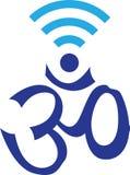 OM symbol łączący z WIFI symbolem Zdjęcia Royalty Free