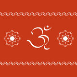 OM symbol. And artistic rangoli designs Stock Images