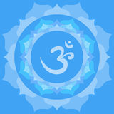 Om symbol. Om or Aum symbol in mandala made from petals Royalty Free Stock Photo
