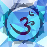 Om symbol. Om or Aum symbol in mandala made from petals Royalty Free Stock Photography