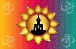 Om symbol and Buddha Stock Image