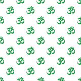 Om symbol of hinduism pattern seamless. Om symbol of hinduism pattern in cartoon style. Seamless pattern vector illustration Stock Image