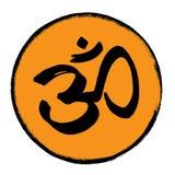 Om-symbol i en cirkel royaltyfria foton