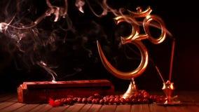 Om symbol i kadzidłowy kij zbiory