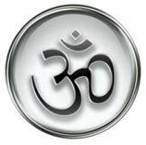 Om Symbol icon grey Royalty Free Stock Photography