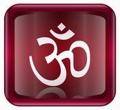 Om Symbol icon red Royalty Free Stock Photos