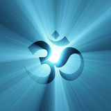 OM symbol with light halo Royalty Free Stock Photos