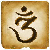Om symbol old paper mark Stock Photography