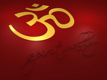 Om Symbol - Spiritually letters vector illustration