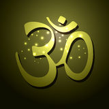 Om symbol. Vector design art Stock Photography