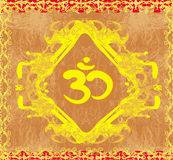 Om symbol - vintage artistic background. Illustration Royalty Free Stock Photography