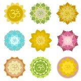 Om symbols isolated Stock Image