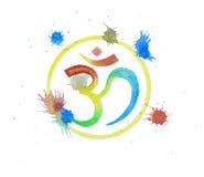Om symbool in Hindoese godsdienst stock afbeeldingen