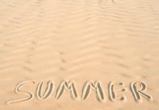 Om van de zomer zand Stock Afbeeldingen