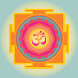 Om Yantra- illustration Stock Image