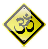 Om yellow road sign Stock Photography
