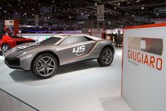 De Première van de Wereld van de Open tweepersoonsauto van Giugiaro - de Show van de Motor van Genève 2013 Stock Foto