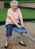 Oma 3 van het geschommel Royalty-vrije Stock Fotografie