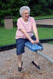 Oma 4 van het geschommel Royalty-vrije Stock Foto