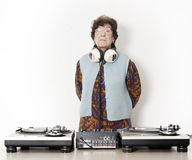 Oma DJ Stock Afbeelding