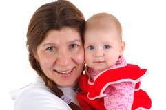 Oma en een baby Royalty-vrije Stock Afbeelding