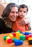 Oma en I Royalty-vrije Stock Afbeelding