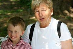 Oma en kleinzoon Royalty-vrije Stock Fotografie