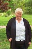 Oma en riet stock foto's