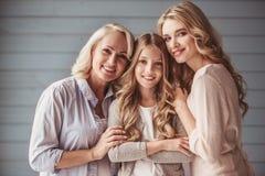 Oma, mamma en dochter Stock Foto