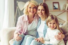 Oma, mamma en dochter Royalty-vrije Stock Afbeeldingen